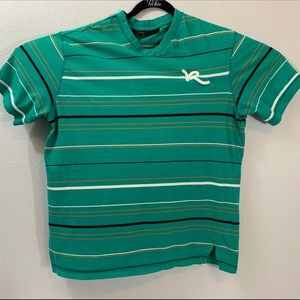 Rocawear mens t-shirt striped green size XL